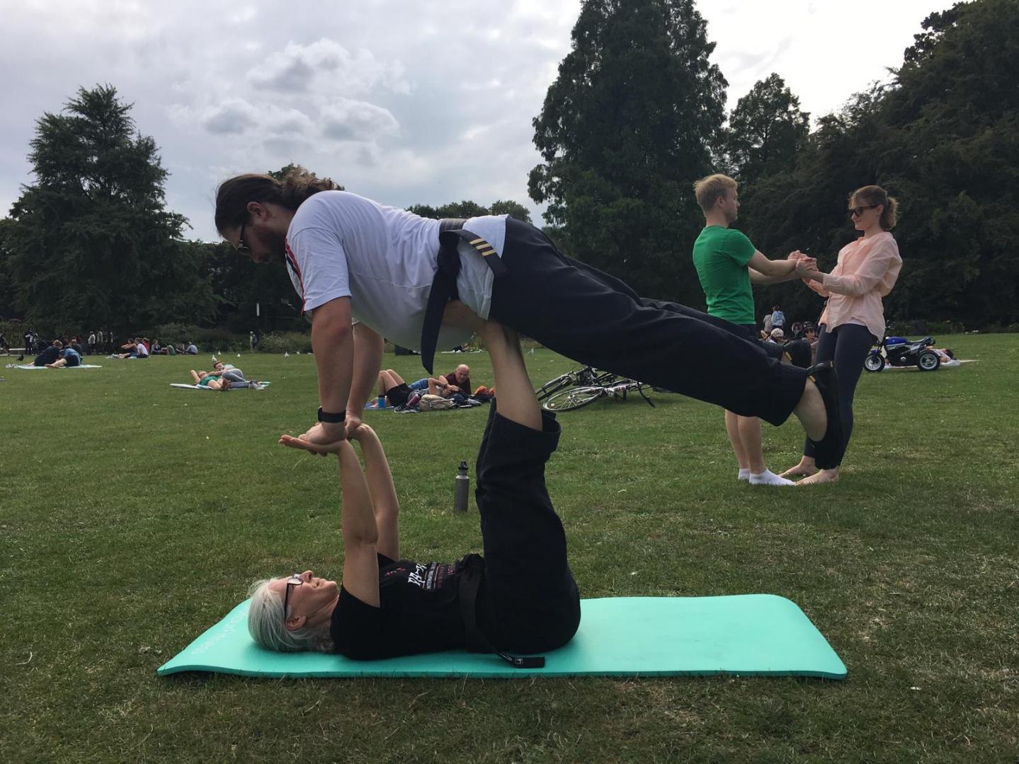 Akrobatik - ich will auch fliegen