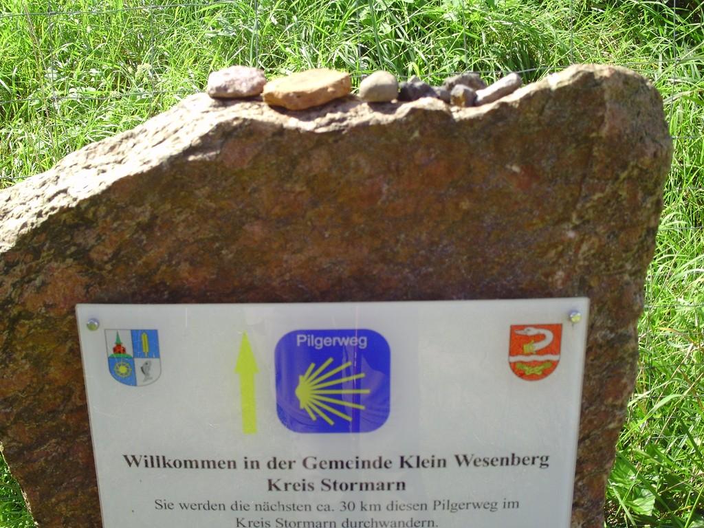 Willkommensgruß in Klein Wesenberg