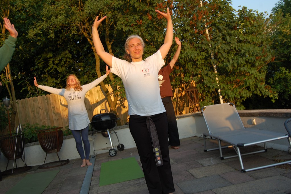 Tai Chi in der Abendsonne