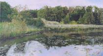 z.B. Panoramabild Bommerweiher (1. von insgesamt 3 Teilen à je 115cm Breite)