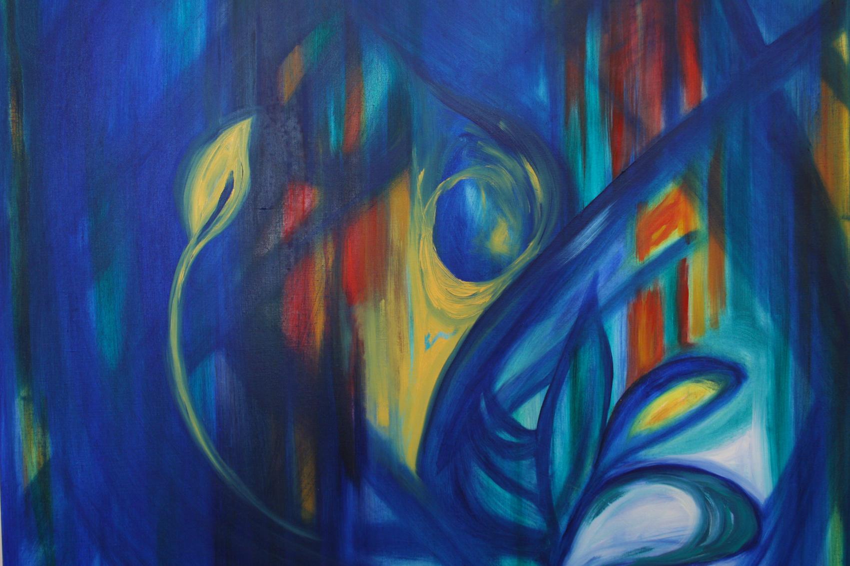 """""""Erwachen"""" Öl auf Leinwand,  70x70 cm"""