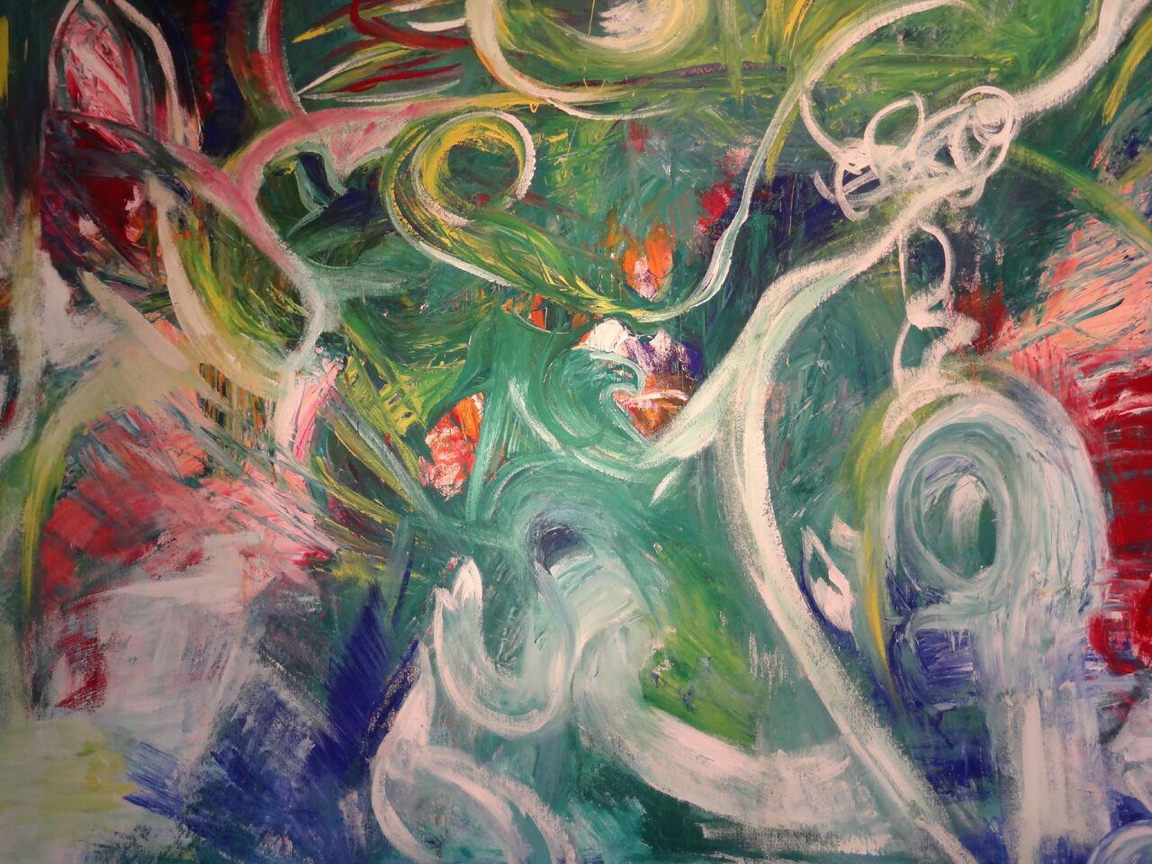 """""""Poesie in Farben"""" Gouache auf Leinwand, 90x110 cm"""