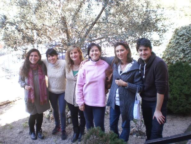 Rosa, María, Natalia, Marta y Amilcar