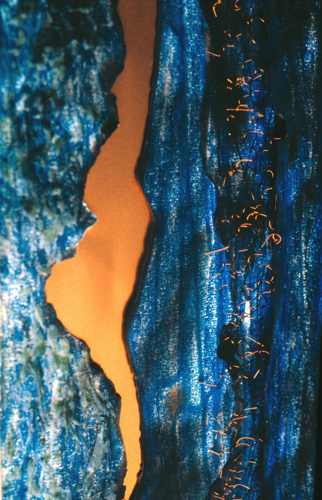 kupferfarben glänzt der Fluss  (60x45cm) *
