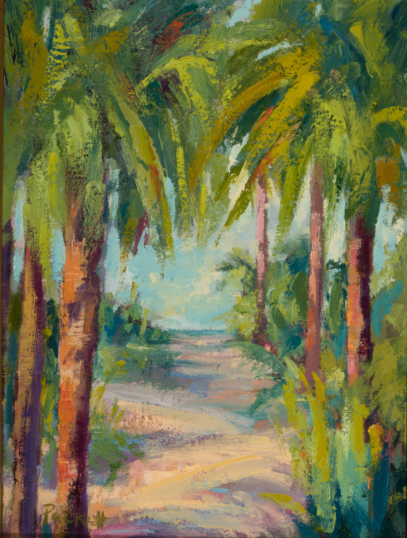 Pathway to Beach- -- Medium: Oil --- 12 X 16