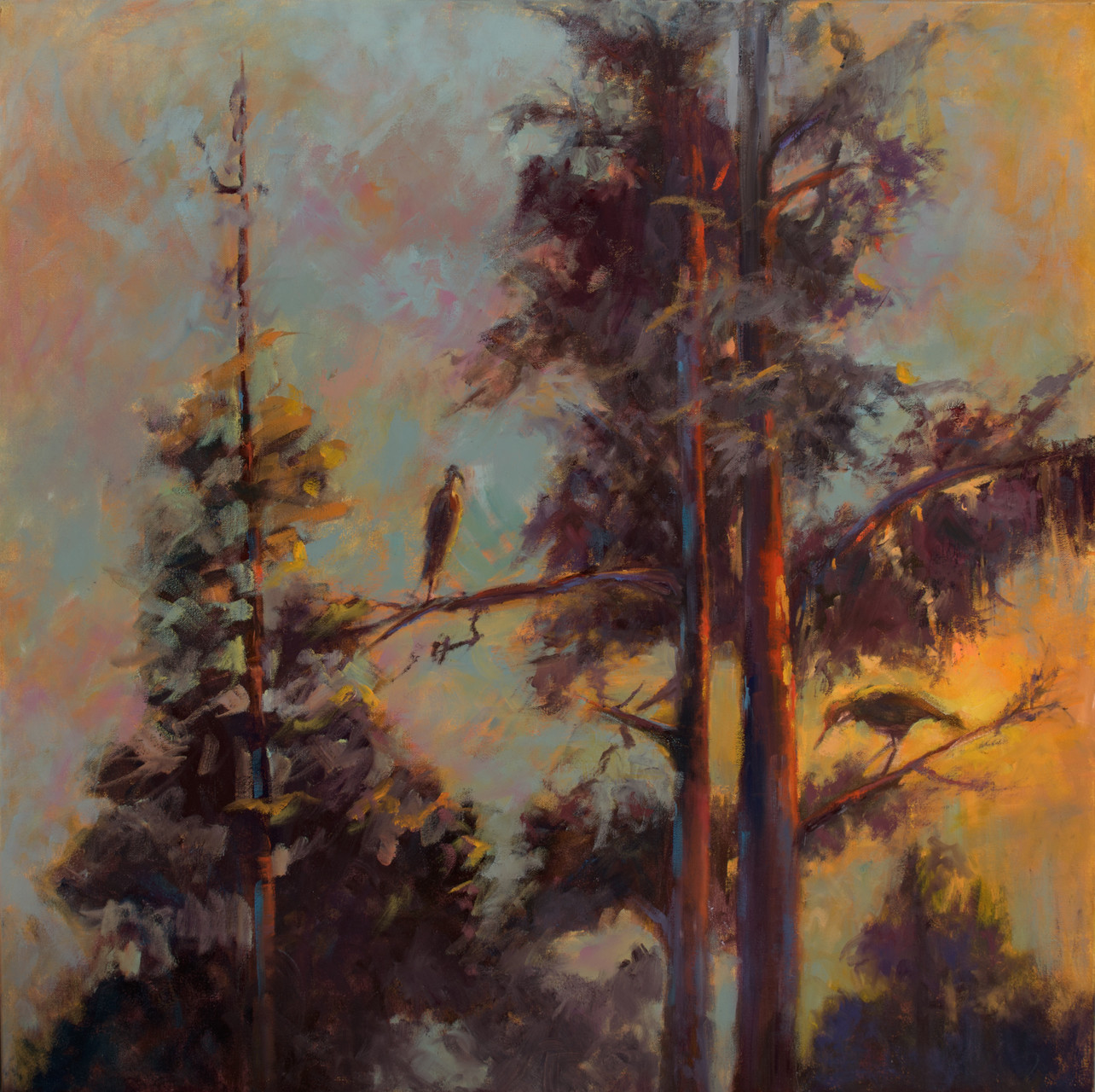 BYE BYE DAYLIGHT, HELLO EVENING.  --- Medium: Oil --- 30x30