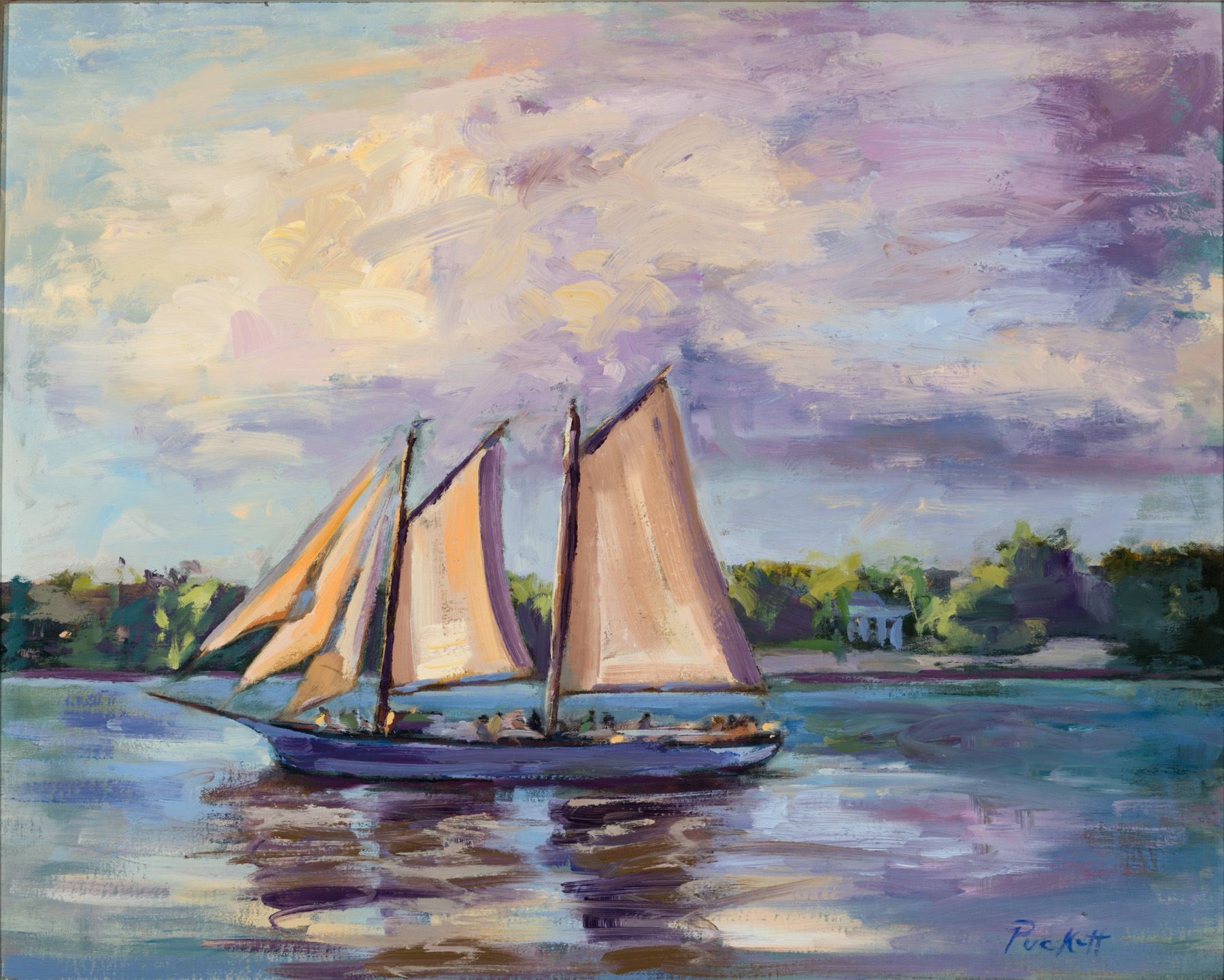 Evening Cruise- -- Medium: Oil --- 20 X 16