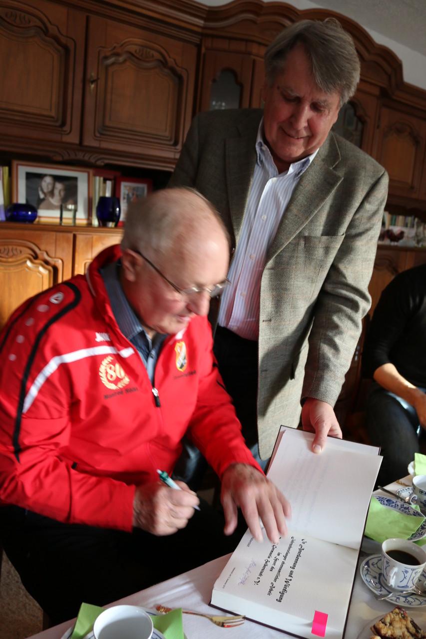 Manfred Höfke zusammen mit KSB Präsident Rühe