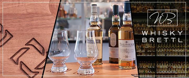 das Holzbrett und Whisky Assortiment ist unsere Leidenschaft