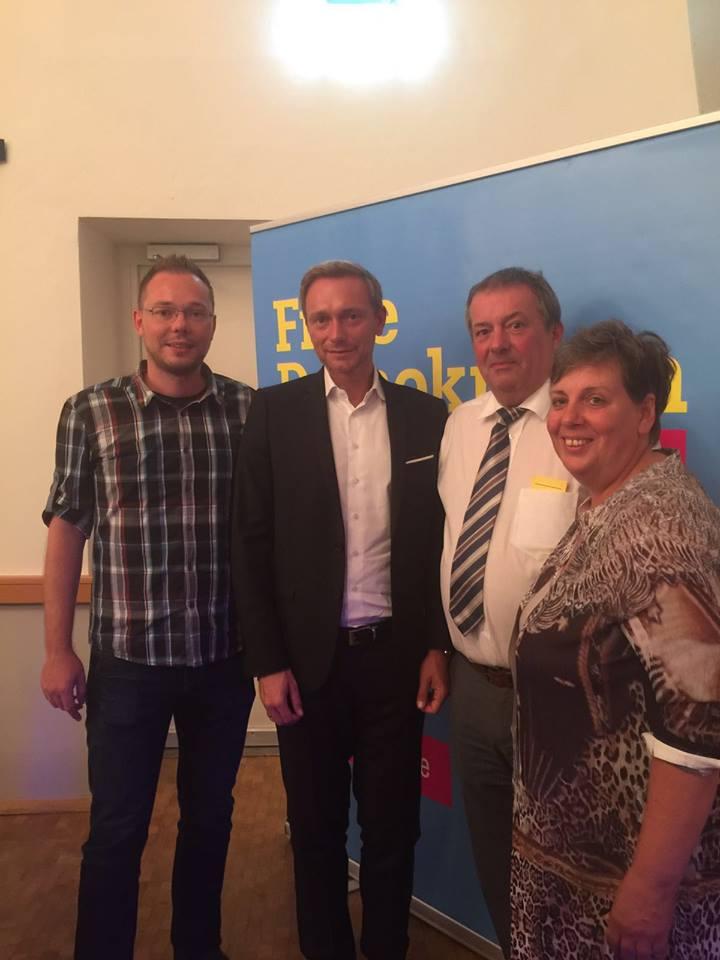 mit Christian Lindner, Annette Pizzato, Jörg Kloppenburg