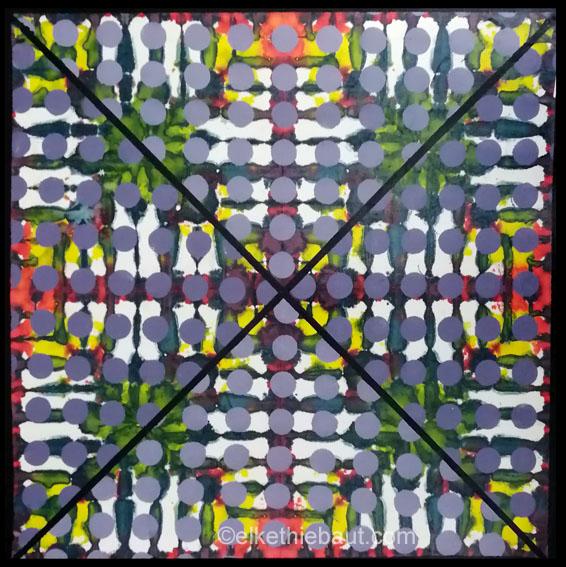 «Quo vadis?», technique mixte sur papier Fabriano, 47x47 cm/mixed medias on Fabriano paper, 2021