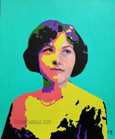 Title/Titre: «Innocence», acrylique et huile sur papier Fabriano 50 x 60 cm/ acrylics and oil on gessoed Fabriano paper, 50 x 60 cm, 2020