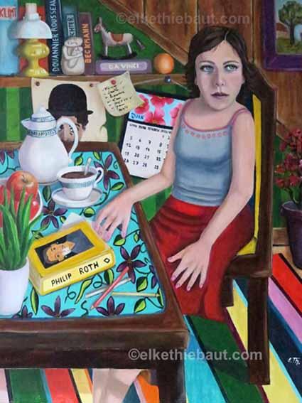 """""""All il Vanity"""" (Tout est Vanité), acrylique et huile sur toile, 60 x 80 cm"""