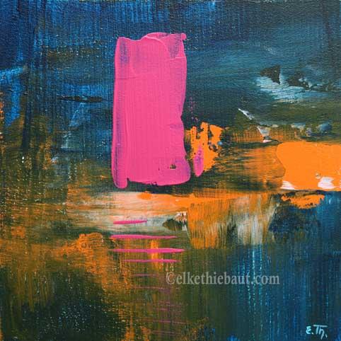 Abstrait N° 57, acrylique sur bois épicea de Finlande (écofriedly)/abstract acrylic painting on  wood, 20x20x2cm