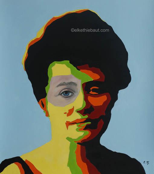 Title/Titre: «Nostalgie», acrylique et huile sur papier Fabriano 50 x 60 cm/ acrylics and oil on gessoed Fabriano paper, 50 x 60 cm, 2020