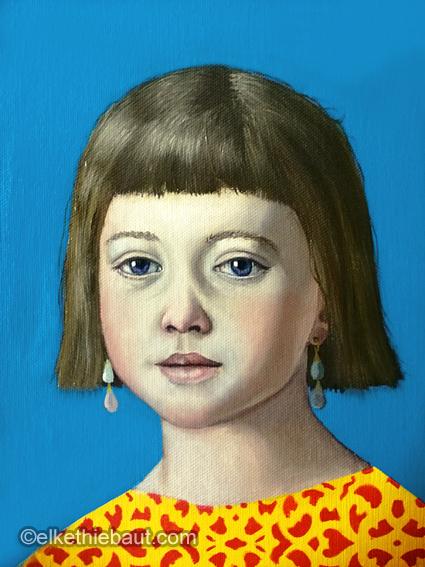 Petit Visage 8, acrylique et huile sur toile/acrylics and oi on canvasl - 30 x 24 cm