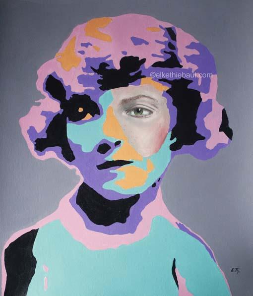 Title/Titre: «Tristesse», acrylique et huile sur papier Fabriano 50 x 60 cm/ acrylics and oil on gessoed Fabriano paper, 50 x 60 cm, 2020