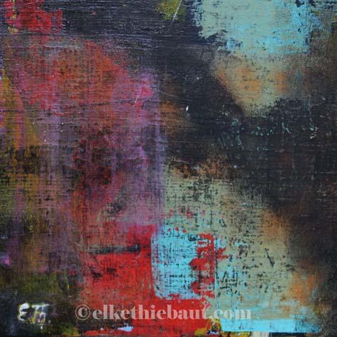 Abstrait N° 56, acrylique sur bois épicea de Filande (écofriedly)/abstract acrylic painting on  wood, 20x20x2cm