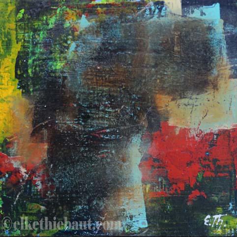 Abstrait N° 53, acrylique sur bois épicea de Finlande (écofriedly)/abstract acrylic painting on  wood, 20x20x2cm