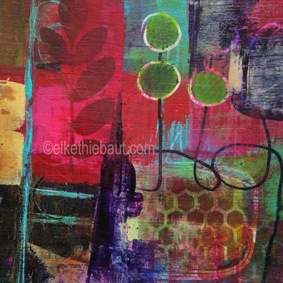 Abstrait N° 62/2017, Acrylique sur papier Fabriano 400 grammes