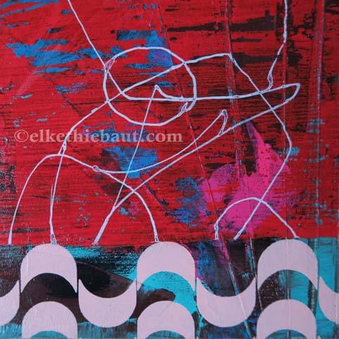 Abstrait N° 58, acrylique sur bois épicea de Finlande (écofriedly)/abstract acrylic painting on  wood, 20x20x2cm
