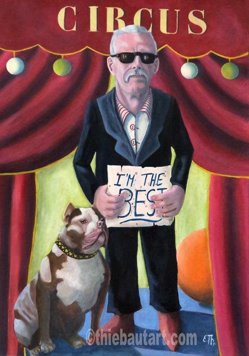 """""""I'm the Best"""", Acrylique et huile sur papier Fabriano 400 grammes protégé par vernis, 50 x 70 cm"""