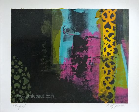 «Rayon» , Acrylique sur papier Clairefontaine 360 grammes, 24 x 30 cm/acrylics on paper Clairefontaine, 24x30 cm, 2020