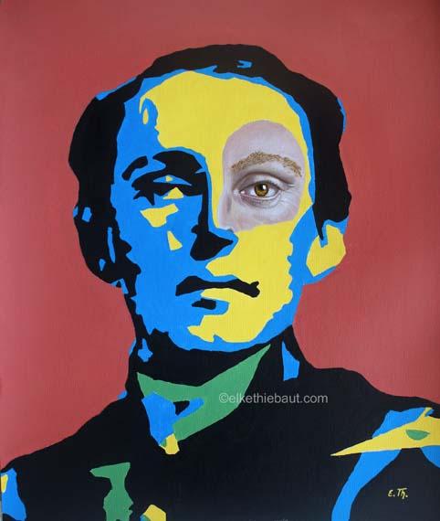 Title/Titre: «Doutes», acrylique et huile sur papier Fabriano 50 x 60 cm/ acrylics and oil on gessoed Fabriano paper, 50 x 60 cm, 2020