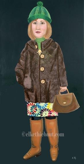 """Titre/Title: """"Le Talisman"""", Acryliques et huile sur lin/acrylics and oil on stretched linen, 2019"""