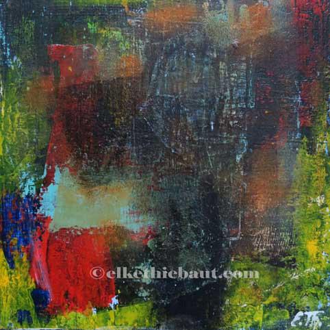 Abstrait N° 55, acrylique sur bois épicea de Finlande (écofriedly)/abstract acrylic painting on  wood, 20x20x2cm