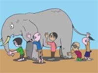 Blinde und Elefant - Weise Geschichte