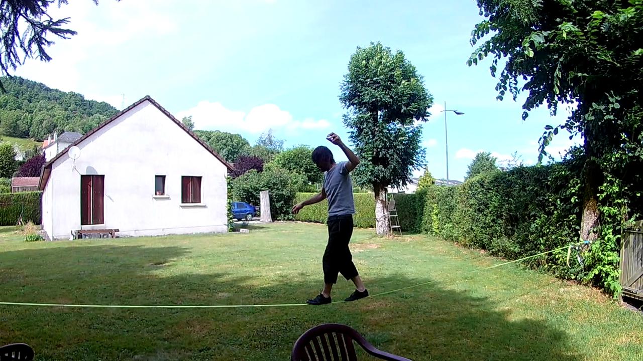 Lionel sur slack 15 m, 25 mm