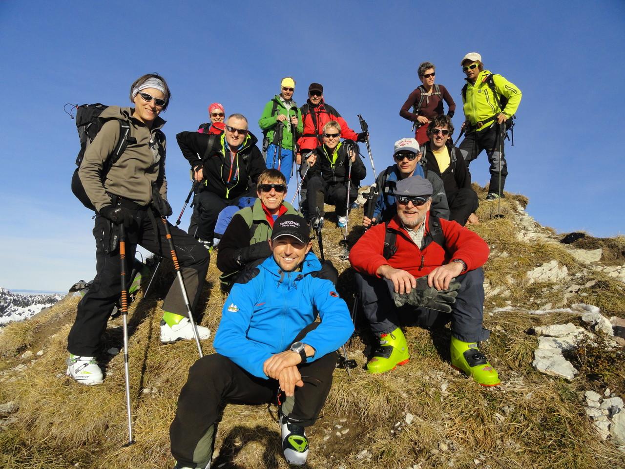 Alle auf dem Gipfel