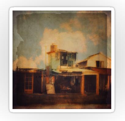 Shop Stickers, Fisherman House by Victoria Herrera