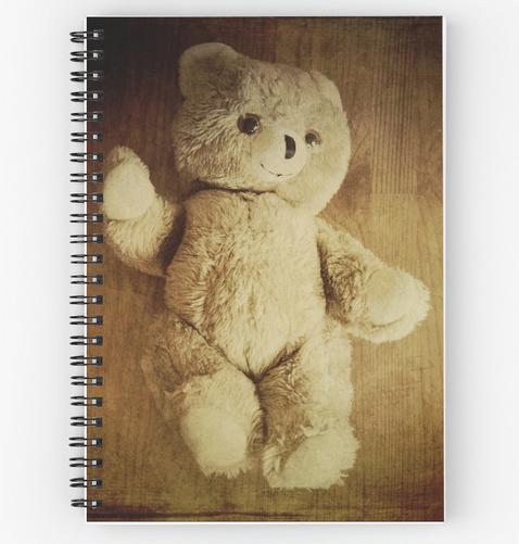 Shop Spiral Notebooks, Little Teddy Bear By Victoria Herrera