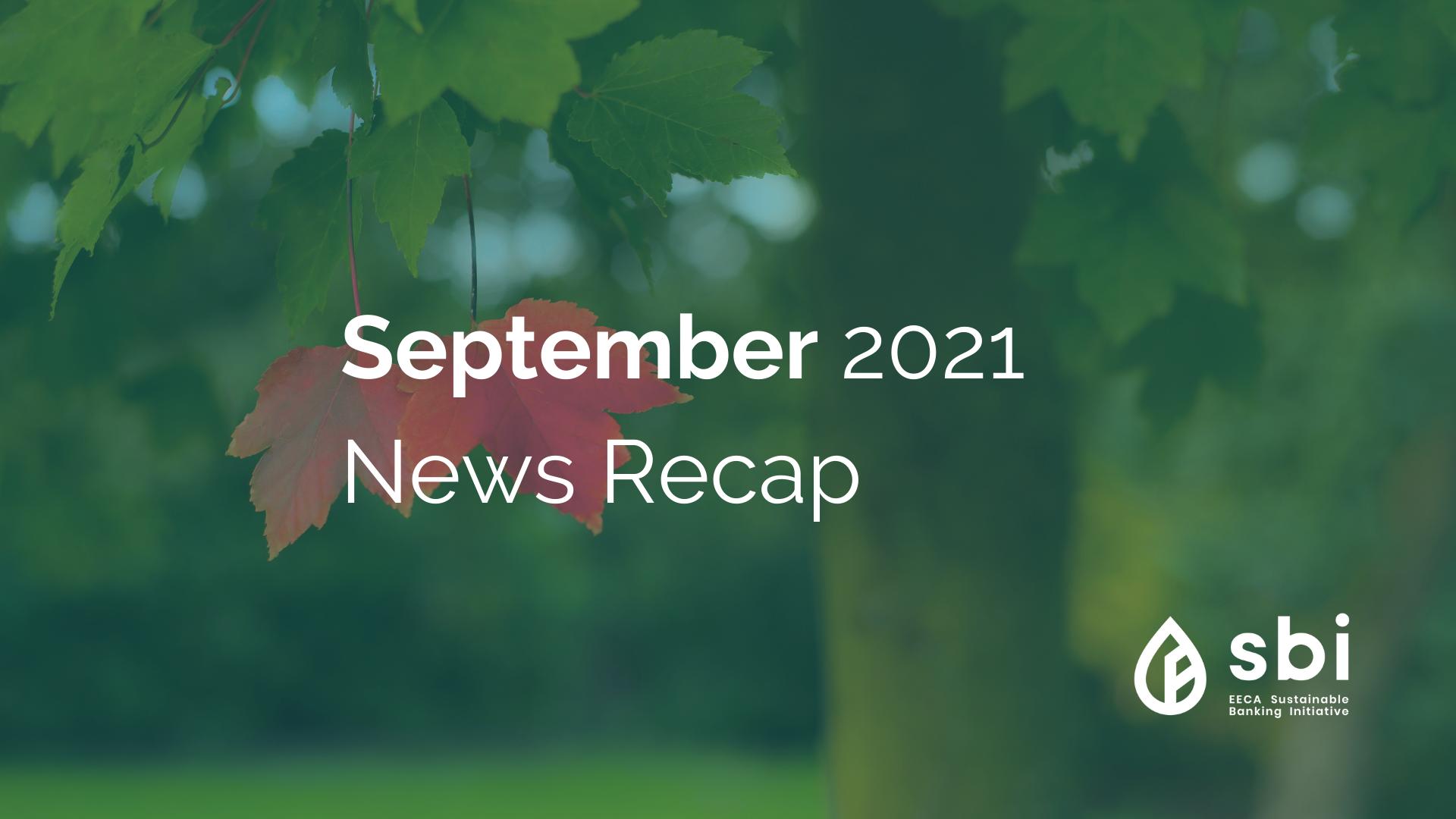 September 2021 News Recap