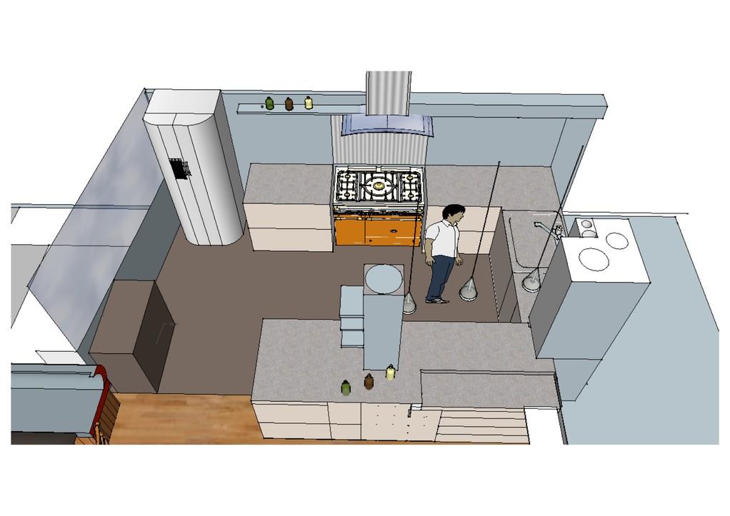 vue espace cuisine contemporaine et design