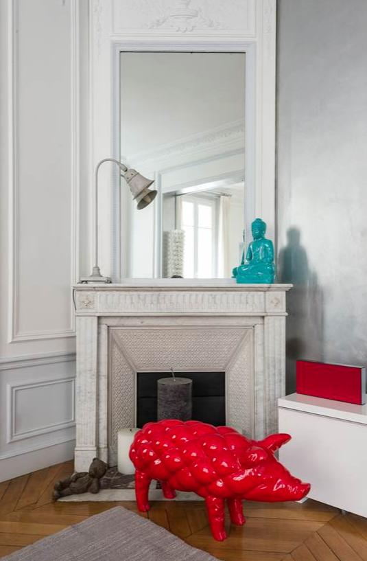 la cheminée haussmanienne d'angle : un atout de décoration à Paris 17ème