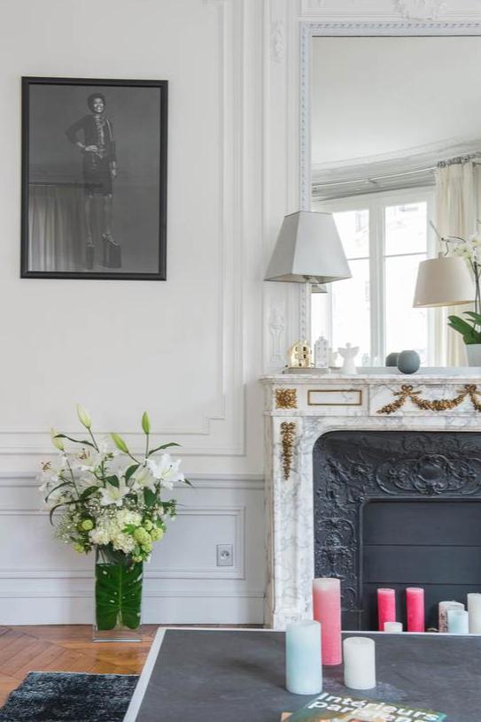 détail d'une cheminée haussmanienne à Paris : un élément de décoration incontournable à Paris 17ème
