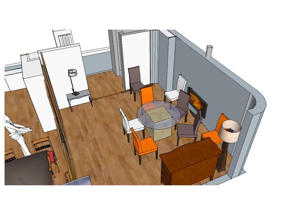 vue espace à vivre salle à manger : avant réalisation