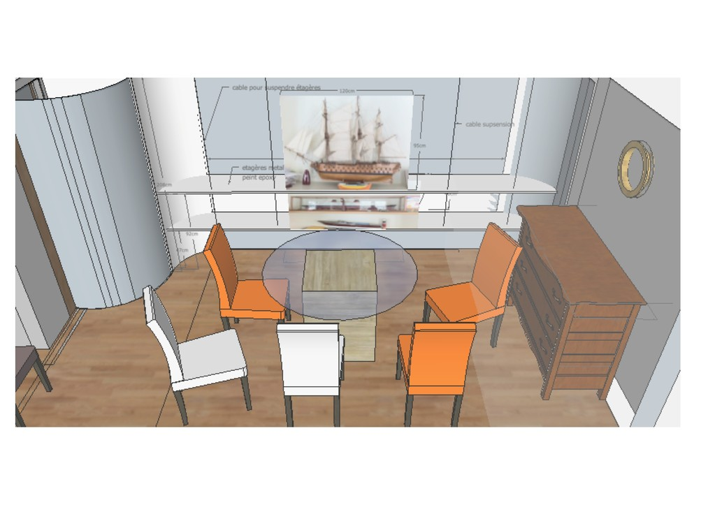 salle à manger en open space avec cuisine