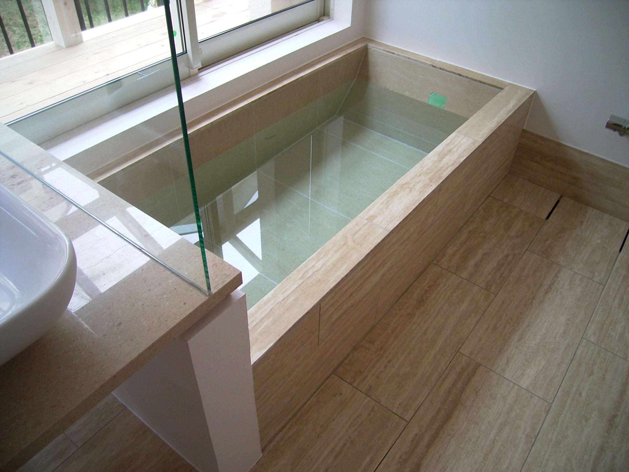 大理石浴槽 トラバーチン
