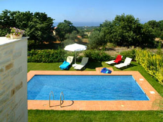 villa pool prines kreta aloe