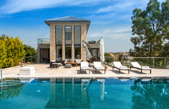 villa luxus pool akrotiri kreta divine