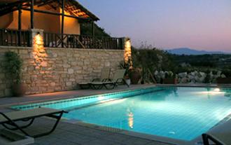 villa pool stavromenos kreta