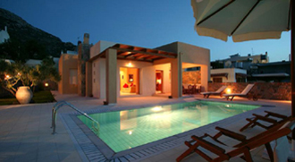villa pool lassithi kreta nymphes
