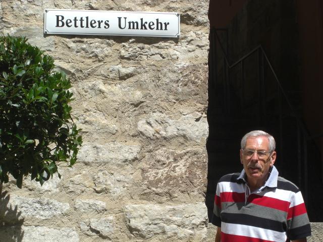 """""""mittelalterliches Stoppschild"""" in Schwäbisch-Hall"""