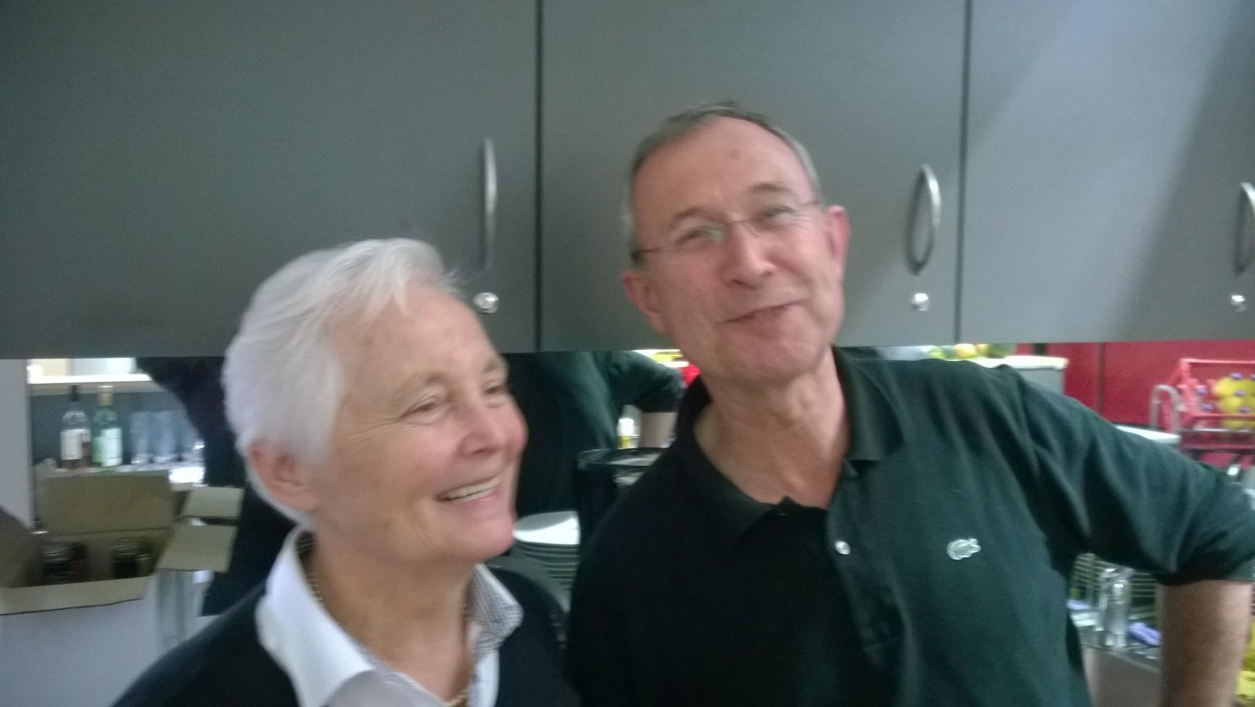 DANKE für die Unterstützung - Gisela und Günter vom Haus der Begegnung, Albachten
