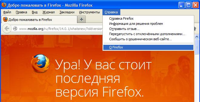 Справка Firefox