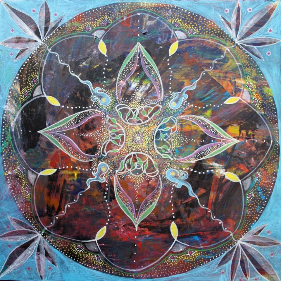 Mandala-Acryl 2016-40x40 cm-150 €